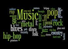 Moderne muziek Royalty-vrije Stock Afbeelding