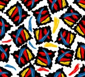 Moderne naadloze abstracte grungeachtergrond Stock Afbeelding