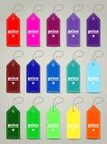 Moderne naadloze gekleurde prijskaartjes Royalty-vrije Stock Afbeelding