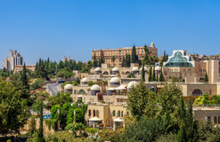Moderne Nachbarschaft in Jerusalem, Israel. Lizenzfreies Stockfoto