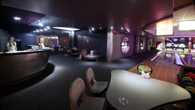 Moderne nachtclub in Europese stijl Stock Afbeeldingen