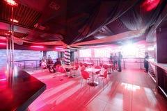 Moderne nachtclub in Europese stijl Stock Foto's