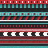 Moderne nahtlose Verzierung mit Linien und Stammes- Formen Stockbilder