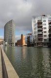 Moderne Nederlandse architectuur, bureaus en flats Stock Afbeeldingen