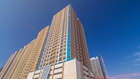 Moderne nieuwe torens in Ajman timelapse hyperlapse Cityscape van Ajman royalty-vrije stock afbeelding