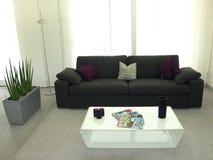 Moderne nieuwe woonkamer Royalty-vrije Stock Fotografie