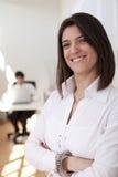 Moderne onderneemster op haar kantoor Stock Foto