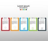 Moderne ontwerpelementen voor bedrijfs Veelkleurige infographics Vec stock illustratie