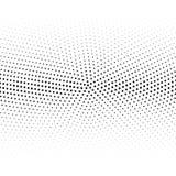 Moderne ontwerperhalve toon van zwarte die punten op wit worden gecentreerd royalty-vrije illustratie