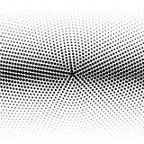 Moderne ontwerperhalve toon van zwarte die punten op wit worden gecentreerd stock illustratie
