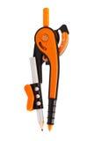 Moderne orange Kompassse lizenzfreie stockfotos