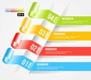 Moderne Origamiart Infographic und Wahlen Banne Lizenzfreies Stockbild