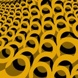 Moderne ovale patroon gele oker en zwarte diagonaal en dimensionaal Vector Illustratie
