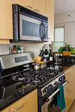 Moderne oven en cooktop royalty-vrije stock foto's