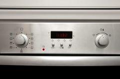Moderne oven - voordetails royalty-vrije stock foto