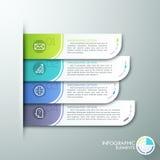 Moderne Papier-infographics Wahlfahne lizenzfreie abbildung