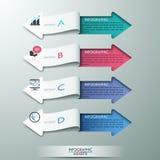 Moderne Papierpfeilart-Wahlfahne stock abbildung