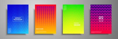 Moderne pastelkleurdekking met multi-colored gouden vormen en voorwerpen Abstract ontwerpmalplaatje voor brochures, vliegers, ban Stock Illustratie