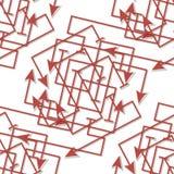 Moderne patroon naadloze vectorachtergrond Duidelijke kleuren - gemakkelijk aan recolor Royalty-vrije Stock Afbeelding