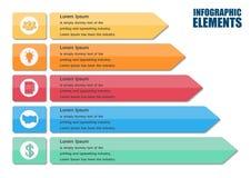 Moderne Pfeil infographics Elemente Lizenzfreies Stockfoto