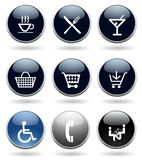 Moderne pictogramreeks Stock Afbeelding