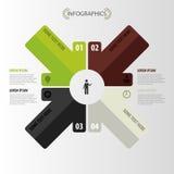 Moderne pijl Het Malplaatje van Infographic Vector Stock Foto's