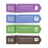 Moderne pijl infographic elementen Royalty-vrije Stock Foto