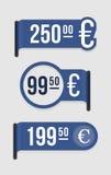 Moderne prijskaartjeâ euro vector illustratie