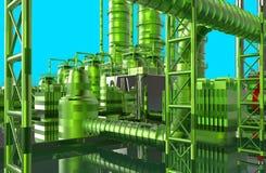 Moderne raffinaderij royalty-vrije illustratie