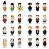 Moderne reeks mensen Royalty-vrije Stock Afbeelding