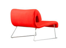 Moderne rode leunstoel Stock Afbeelding