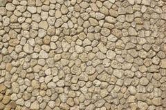 Moderne Rond gemaakte Witte Kalksteenmuur wat als Oude Textuur kijken stock afbeeldingen