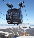 Moderne ropeway FUNITEL bij heuvel Chopok - Lage Tatras, Slowakije Stock Fotografie