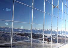 Moderne ropeway FUNITEL bij heuvel Chopok - Lage Tatras, Slowakije Stock Foto's