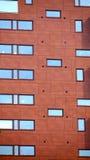 Moderne rote Fassade Lizenzfreie Stockfotografie
