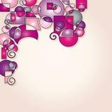moderne roze vormenachtergrond Royalty-vrije Stock Afbeelding