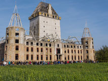 Moderne ruïne van kasteel Almere Stock Afbeelding