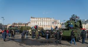 Moderne russische gepanzerte Fahrzeuge Stockfoto
