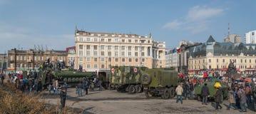 Moderne russische gepanzerte Fahrzeuge Stockfotografie