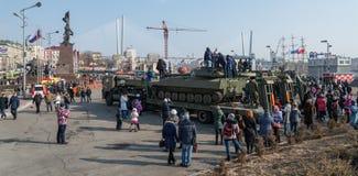 Moderne russische gepanzerte Fahrzeuge Stockbild