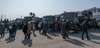 Moderne Russische pantserwagens Royalty-vrije Stock Foto's