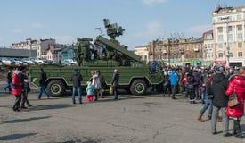 Moderne Russische pantserwagens Stock Afbeelding