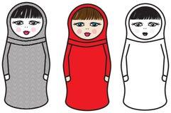 Moderne russische Puppen stock abbildung