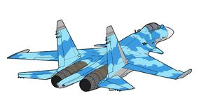 Moderne Russische straalvechtersvliegtuigen Stock Fotografie