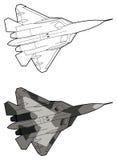 Moderne Russische straalvechtersvliegtuigen Stock Foto's