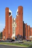 Moderne sacral architectuur - St Thomas Apostle kerk in Warshau, Polen Royalty-vrije Stock Afbeelding