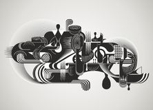 Moderne samenvatting met vloeibare vormen stock foto's