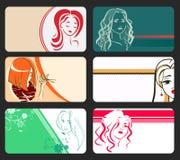 Moderne Sammlung Visitenkarten Lizenzfreie Stockbilder