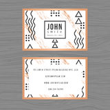 Moderne saubere Visitenkarteschablone im abstrakten Hintergrund Lineares Entwurfsdesign Druck der Designschablone stock abbildung