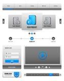 Moderne saubere Website-Gestaltungselemente Grey Blue Gray 2 lizenzfreie abbildung
